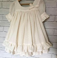Sewing Kids Clothes, Doll Clothes, Sewing For Kids, Dresses Kids Girl, Kids Outfits, Flower Girl Dresses, Little Girl Fashion, Kids Fashion, Baby Dress