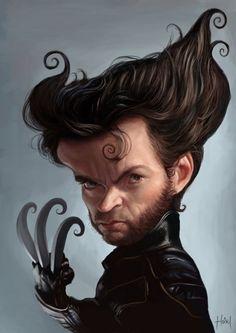Wolverine Karikatur Zeichnung