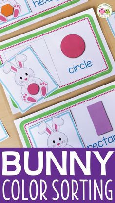 Teach shapes and shape recognition with this bunny shape sorting activity. Autism Activities, Sorting Activities, Easter Activities, Classroom Activities, Shape Activities, Classroom Setup, April Preschool, Shape Sort, Teaching Shapes