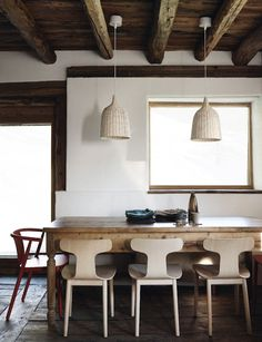 Dining room : modern with antique