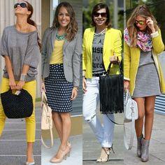 Cinza com amarelo