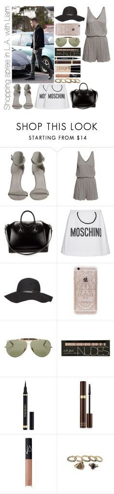 """""""Shopping spree in L.A. with Liam"""" by michaelssmile ❤ liked on Polyvore featuring H&M, Givenchy, Moschino, Dorothy Perkins, Rifle Paper Co, Ray-Ban, Yves Saint Laurent, Tom Ford and NARS Cosmetics"""