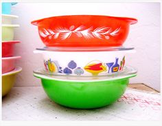 Pyrex and JAJ Pyrex Bowls.-- Evie '14