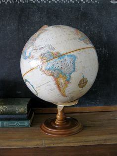 Vintage Globe, Replogle Classic Series Globe with Wood Stand, Tans/Neutral Colors Late For School, I Hate School, Prep School, School Days, Back To School, High School Romance, Vintage Globe, Living In England, Map Wallpaper