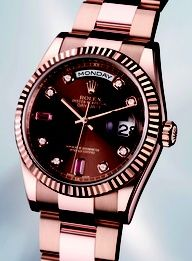 Rose Rolex with chocolate dial. Rose Rolex with chocolate dial. Stylish Watches, Cool Watches, Fine Watches, Women's Watches, Luxury Watches For Men, Sport Watches, Rolex Women, Rolex Models, Rolex Oyster Perpetual