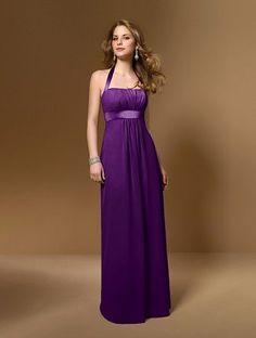 Purple bridesmaid's dress