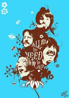 The Beatles - All You Need is Love - Art Poster