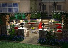 I really Love This Whole Set Up For An Outside Garden Seating Area <3
