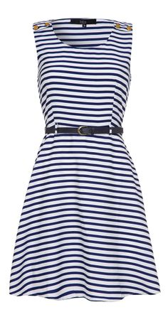 Belted nautical dress
