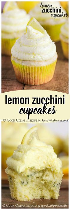 Lemon Zucchini Cupcakes! These delicious Lemon Zucchini Cupcakes are so moist and fluffy! Paired with an incredible lemon buttercream, these are the best zucchini recipe yet!