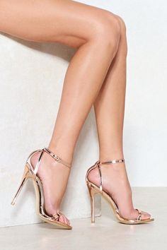 e12970e5a2e2 Nasty Gal nastygal A Heel Out of Line Metallic Heel Metallic Heels