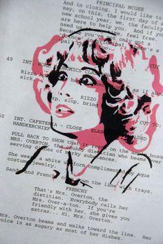 Pink Ladies Frenchy #FanArt #script #amazing