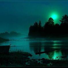Pretty green moon