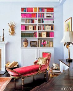 Color Crush: Think Pink. Imagine lying on the chaise, reading a book.