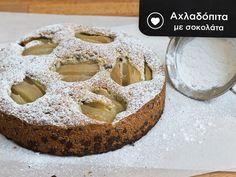 Σήμερα σας γλυκαίνουμε με λαχταριστή αχλαδόπιτα με σοκολάτα, φυσικά με ζουμερά αχλάδια εποχής από τα ΑΒ! Doughnut, Cheesecake, Pie, Desserts, Recipes, Food, Torte, Tailgate Desserts, Cake