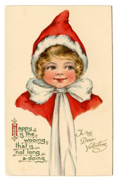 Vintage Christmas Clip Art - Adorable Elf Girl - The Graphics Fairy