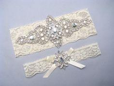 Blue Lace Bridal Garter Crystal Rhinestone Wedding Something Keepsake Or Toss Heirloom Bridesmaids Garters