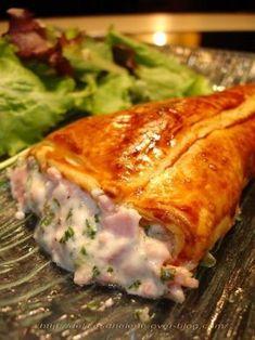Cornets feuilletes jambon-parmesan - Recette Ptitchef