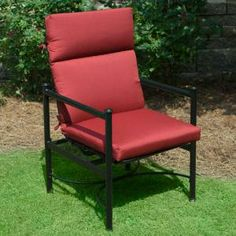 Plantation Patterns Hampton Bay Red Tweed Deluxe High Back Outdoor Chair Cushion Available At The Home