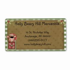 Whimsical Country Shipping Label - Gingham