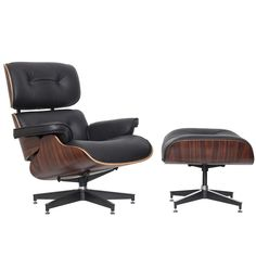 Eames Classic Replica Lounge Chair & Ottoman by Milan Direct. Get it now or find more Living Room Chairs at Temple & Webster. Charles Eames, Ray Charles, Vitra Lounge Chair, Eames Chairs, Eames Furniture, Furniture Design, Furniture Ideas, Eames Chair Replica, Shops