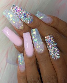 35 Dreamlike Unicorn Nail Designs You will Like - Page 18 of 35 - LoveIn Home : 35 Dreamlike Unicorn Nail Designs You will Like nails, nail design, unicorn nails, pink nails Bridal Nails, Wedding Nails, Unicorn Nails Designs, Gradient Nails, Matte Nails, Gel Nails, Manicures, Matte Pink, Nagellack Design