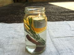 How to Make Floating Citronella Candles