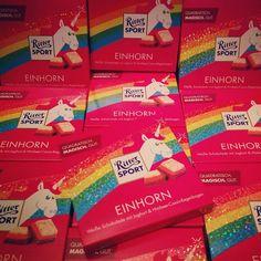Einhorn-Liebe: die limitierte Einhorn-Schokolade von Ritter Sport (#glittersport)