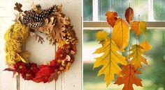 Dekoracje zjesiennych liści