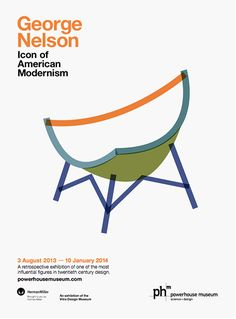George Nelson, Graphic Design Print, Museum, Herman Miller, Writer, Asia, Teacher, Australia, Chair