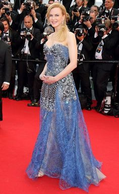 Nicole Kidman in a blue Armani dress - click through for more of her best Cannes dresses ever