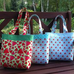 Now there are: flowers and water melon theme that means new bags from Hola Lotta, just perfect for the Summer! Look for HolaLotta on Etsy  #crossbody #purse #fabricbag  #Tote bag,