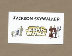 Star Wars Gift Enclosure Cards - Treat Bag Tags for Birthday Parties - Calling Cards by CardsByKooper on Etsy