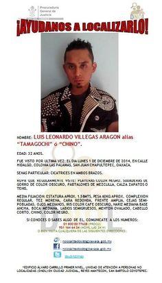 EDAD: 32 AÑOS. FUE VISTO POR ÚLTIMA VEZ: EL DIA LUNES 1 DE DICIEMBRE DE 2014, EN CALLE HIDALGO, COLONIA LAS PALAMAS, SAN JUAN CHAPULTEPEC, OAXACA.- http://www.pixable.com/share/61tAy/?tracksrc=SHPNAND2&utm_medium=viral&utm_source=pinterest