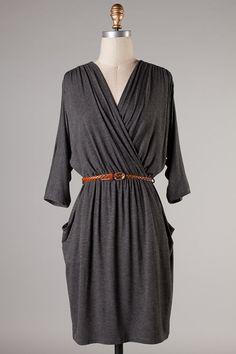 Alden Dress in Charcoal on Emma Stine Limited