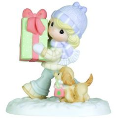 "Precious Moments Girl With Gift Box And Puppy Figurine ""It's Better to Give Than to Receive"" by Precious Moments, http://www.amazon.com/dp/B00548KATY/ref=cm_sw_r_pi_dp_6.nYqb1RFQDW9"