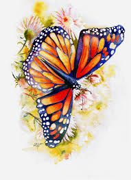 Realistic butterfly paintings - photo#13