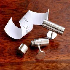 Engraved Secret Agent Cufflinks