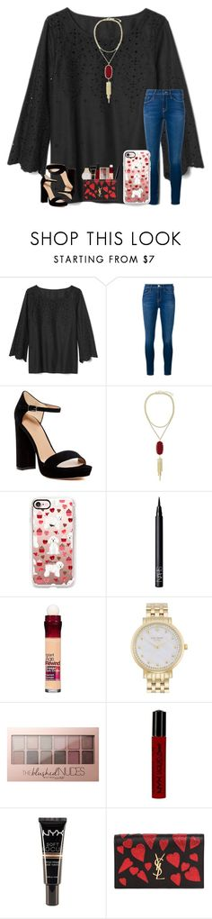 """""""QOTD in the Description :)"""" by kari-luvs-u-2 ❤ liked on Polyvore featuring Gap, Frame, Pour La Victoire, Kendra Scott, Casetify, NARS Cosmetics, Maybelline, Kate Spade, NYX and Yves Saint Laurent"""