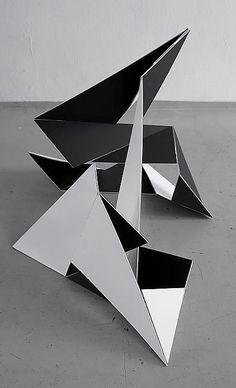 Franz Riedl | Variables Objekt | cardboard folding object photodocumentation