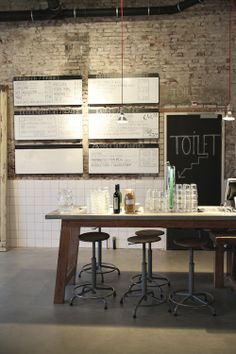 TRIED & TESTED | THE KITCHEN ROTTERDAM ** I like the exposed brick, signage. Clever but not clear...