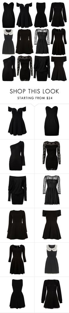 """Little Black Dress"" by deca-froses ❤ liked on Polyvore featuring Moschino, Balmain, John Zack, SuperTrash, Juicy Couture, Motel, Vero Moda, Dorothy Perkins, Rare London and Iska"