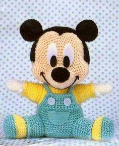 Diesen niedlichen Baby Micky häkeln.        Anleitung Kostenlos  Englisch  Online verfügbar      Anleitung Download: Klick Hier