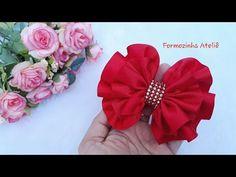 Laço franzido fita n12 - Poly Formozo - YouTube Diy Hair Bows, Diy Bow, Diy Ribbon, Easy Christmas Crafts, Simple Christmas, Bow Tutorial, Hair Beads, Head Pins, Diy Hairstyles
