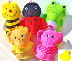 Best Price Three and One 3 Adorable Bath Animal Hand Puppet Washmitts and 1 Baby Toy Rubber Duckie Bundle with Assorted Ladybug Frog  Large selection at low prices - http://topbrandsonsales.com/best-price-three-and-one-3-adorable-bath-animal-hand-puppet-washmitts-and-1-baby-toy-rubber-duckie-bundle-with-assorted-ladybug-frog-large-selection-at-low-prices
