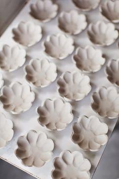 Ceramic flower mini bowls