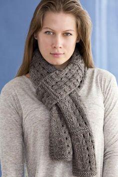 Sheepish Scarf features some nice knitting patterns.