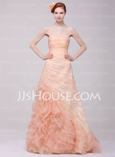 Prom Dresses - $200.00 - A-Line/Princess Sweetheart Sweep Train Organza Charmeuse Prom Dresses With Ruffle (018016218) http://jjshouse.com/A-line-Princess-Sweetheart-Sweep-Train-Organza-Charmeuse-Prom-Dresses-With-Ruffle-018016218-g16218