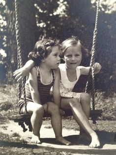 Kodak Film Photo of Two Girls on a Swing Negative on by detteryan
