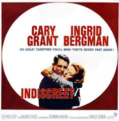 Indiscreet is a 1958 British romantic comedy film directed by Stanley. Turner Classic Movies, Classic Movie Posters, Classic Films, Stanley Donen, Movie Pic, Giving Up On Love, Movie Club, Ingrid Bergman, Two Movies